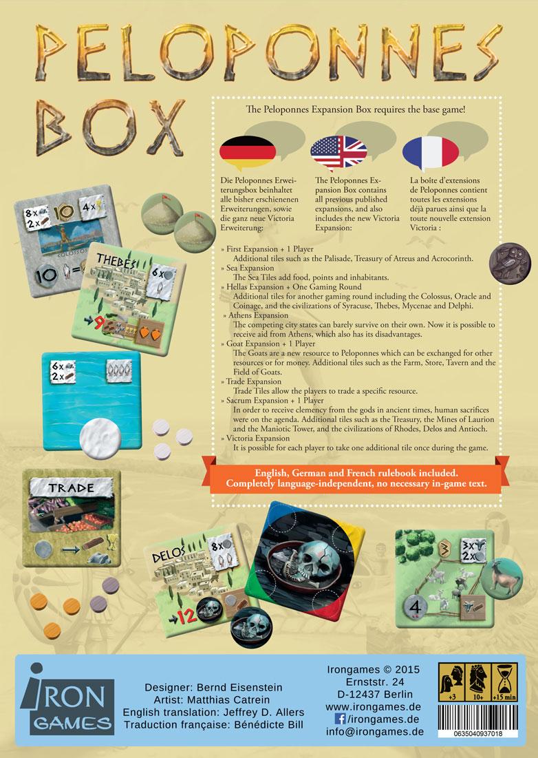 Boardgame Peloponnes Box Bernd Eisenstein